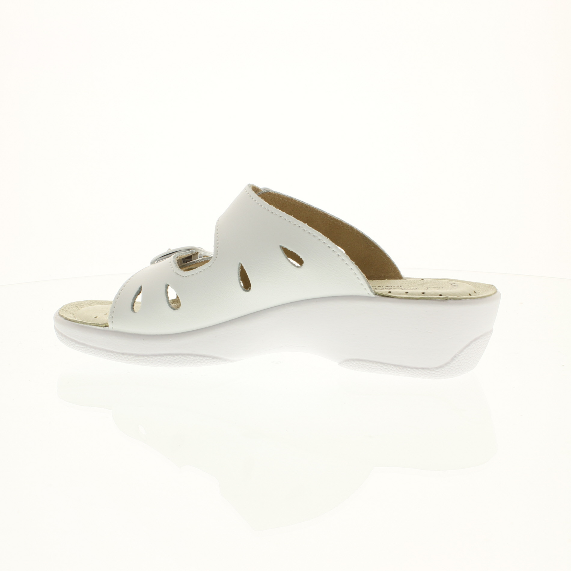 Flexus Decca White Slide Sandal by Spring Step - River ...