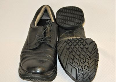 Resoled black Z-CoiL dress shoes