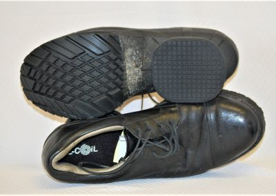 Black Z-CoiL work shoes with new soles